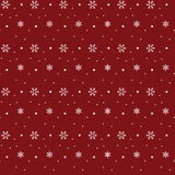 Snowflake pattern on red background. Christmas theme Royalty Free Stock Image