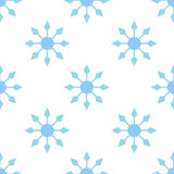 Snowflake pattern seamless royalty free stock photography