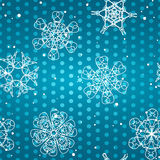 Snowflake Pattern. Seamless  texture. Christmas and new year concept Royalty Free Stock Photo