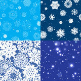 Snowflake Pattern. Seamless  texture. Christmas and new year concept Stock Image