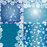 Snowflake Pattern. Seamless  texture. Christmas and new year concept Royalty Free Stock Photos
