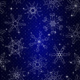 Snowflake Pattern. Seamless  texture. Christmas and new year concept Royalty Free Stock Image