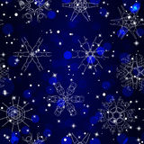 Snowflake Pattern. Seamless  texture. Christmas and new year concept Stock Photos