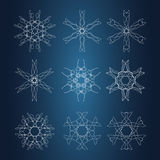 Snowflake Pattern. Seamless  texture. Christmas and new year concept Stock Photography