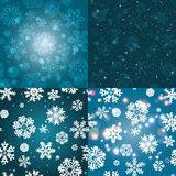 Snowflake Pattern. Seamless vector texture. Christmas and new year concept Stock Images