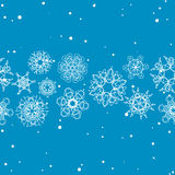 Snowflake Pattern. Seamless vector texture. Christmas and new year concept Royalty Free Stock Photo