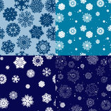 Snowflake Pattern. Seamless vector texture. Christmas and new year concept Stock Image