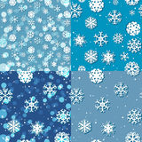 Snowflake Pattern. Seamless vector texture. Christmas and new year concept.  royalty free illustration