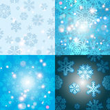 Snowflake Pattern. Seamless vector texture. Christmas and new year concept Stock Photos