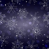 Snowflake Pattern. Seamless vector texture. Christmas and new year concept Stock Photo