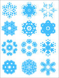 Snowflake pattern set Royalty Free Stock Image