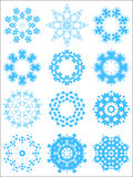Snowflake pattern set Stock Images