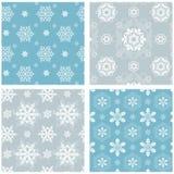 Snowflake Pattern Set Stock Photography
