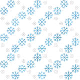 Snowflake Pattern - Snowflake vector pattern. Seamless for cards and web Stock Image