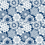 Snowflake Pattern. Snowflake vector texture. Christmas and new year concept.  vector illustration