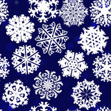 Snowflake Pattern. Snowflake vector texture. Christmas and new year concept.  royalty free illustration