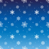Snowflake pattern tint layer gradient blue color background Stock Photography