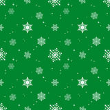 Snowflake pattern tint layer green color background Stock Photos