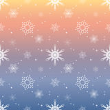 Snowflake pattern tint layer pastel sky color background Stock Photo
