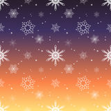 Snowflake pattern tint layer sunset sky color background Stock Image