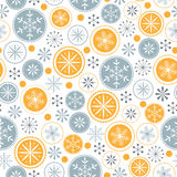 Snowflake pattern on white background Royalty Free Stock Photography