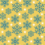 Snowflake Pattern_Yellow Stock Images