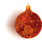 Snowflake patterned globe Stock Photo