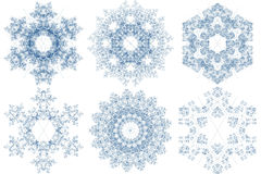 Snowflake patterns stock image