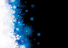 Snowflake pile blue Stock Images