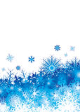 Snowflake pile blue space Royalty Free Stock Image