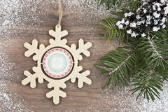 Snowflake with pine Stock Photo
