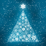 Snowflake pine tree. christmas bright vector. Christmas, snowflake, pine, bright, tree, light, snow, glint, merry christmas, happy, new, year, invitation, card Stock Photo