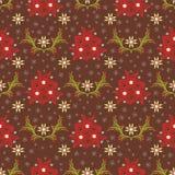 Snowflake Poinsettia Χριστουγέννων Floral διανυσματική απεικόνιση