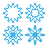 snowflake positionnement illustration stock