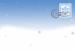 Snowflake postcard Royalty Free Stock Photography