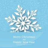 snowflake Priorità bassa di natale di inverno Buon Natale e un nuovo anno felice royalty illustrazione gratis