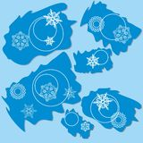 Snowflake ragged rectangle design 004 Royalty Free Stock Image