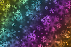 Snowflake in rainbow color Stock Photo