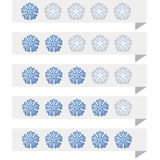 Snowflake ranking tags Stock Photo
