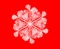 Snowflake on red Royalty Free Stock Images