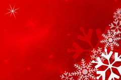 Snowflake red background Royalty Free Stock Photos