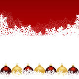 Snowflake red background. Christmas and New Years red background with paper snowflakes. vector illustration Royalty Free Stock Photo