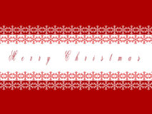 Snowflake on red background Royalty Free Stock Images