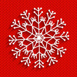 Snowflake on red background Royalty Free Stock Photos