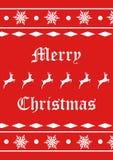 Snowflake and reindeer seasonal background  Stock Photography