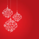Snowflake on red background. Vintage background, christmas with snowflake Royalty Free Stock Photos