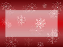 Snowflake on Red Card Stock Image