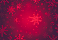 Snowflake with Red Christmas background stock illustration