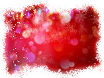 Snowflake with Red Christmas background. EPS 10. Vector file included Stock Image