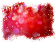 Snowflake with Red Christmas background. EPS 10. Vector file included Stock Photo